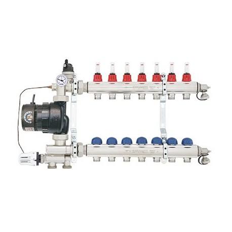 Смесителна група ТМЗ EMMETI с 6 извода за подово отопление