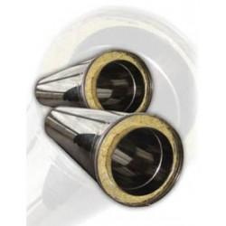 Двойно изолиран комин Ф 150 - 200 - 1 м от неръждаема стомана, инокс